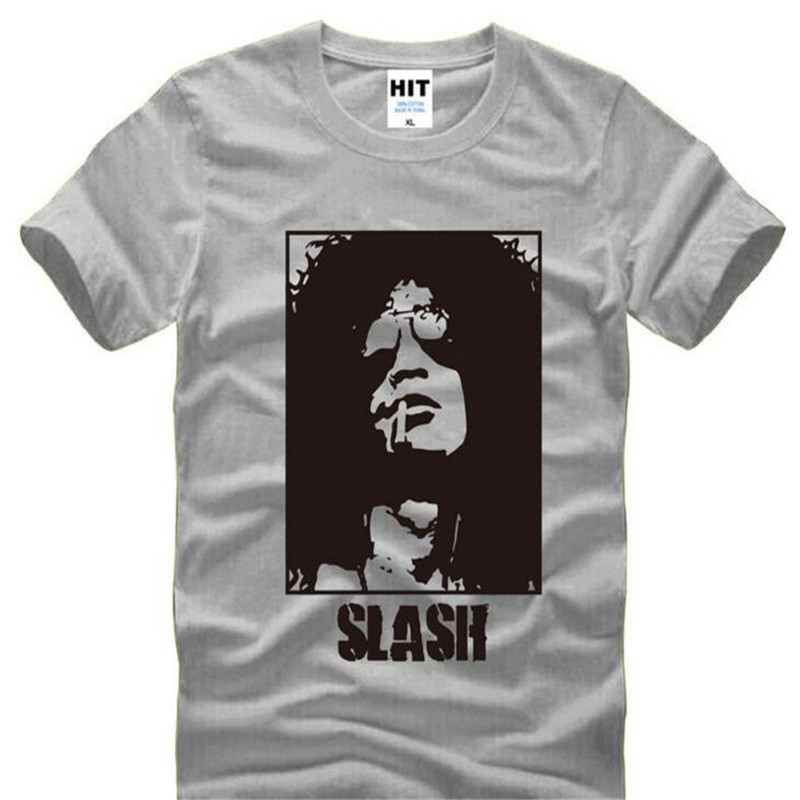 Slash Guns N Roses Rock T-Shirt Men Tshirt Homme Summer Fashion New Mens O Neck Cotton T Shirt Tee Camisetas Fans Clothing