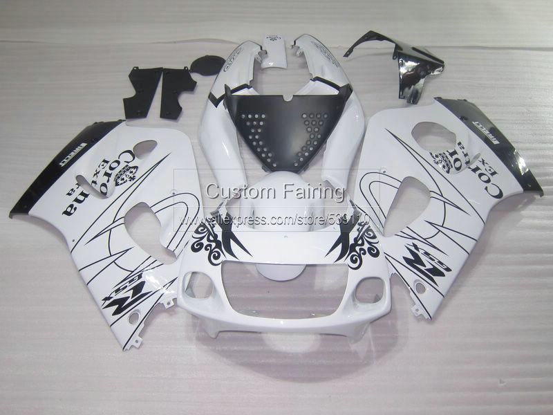 Fairing kit for SUZUKI GSXR 600 750 1996 1997 1998 1999 2000 GSXR600 GSXR750 96-99 00 white black Corona fairings set ZE1