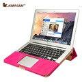 Jisoncase Original Stand Case couro Projeto PU para MacBook Air 11 12 13 polegada de Luxo Tampa Slim Laptop Saco do Caderno