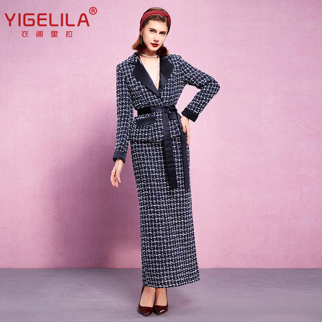 Yigelila 8169 Latest Autumn Winter New Women Luxury Elegant Tweeds
