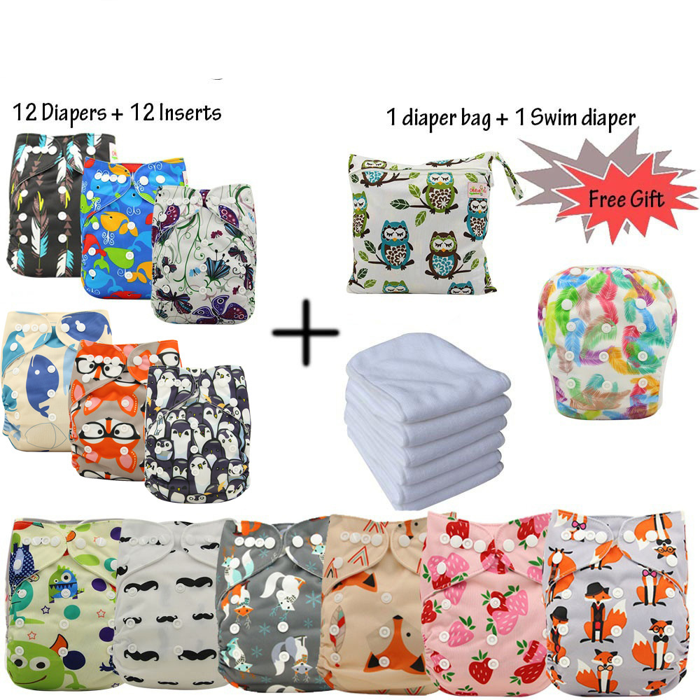 Pocket Baby Diaper Covers Fraldas Reutilizaveis 2018 Brand Washable Reusable Diapers for Newborns Cloth Nappies Diaper Insert 10pcs reusable baby infant cloth diaper nappy liners insert cotton white reusable newborn baby nappies
