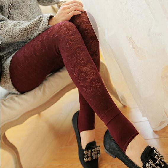 Winter Velvet Warm Lace Sexy Leggings