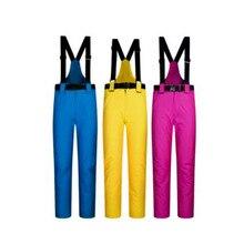 Весенние, осенние и зимние ветрозащитные, водонепроницаемые, теплые и Плотные хлопковые брюки, можно снять с пояса, лыжные штаны W4-201