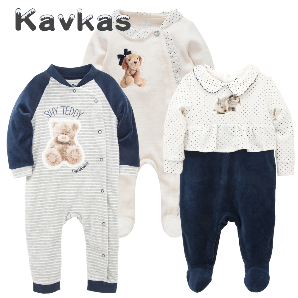 Kavkas 2019 Baby Girl Clothes Long Sleeve Winter Warm Wear roupa de bebes Newborn Baby   Rompers   Infant Baby Boys Pajamas Clothing
