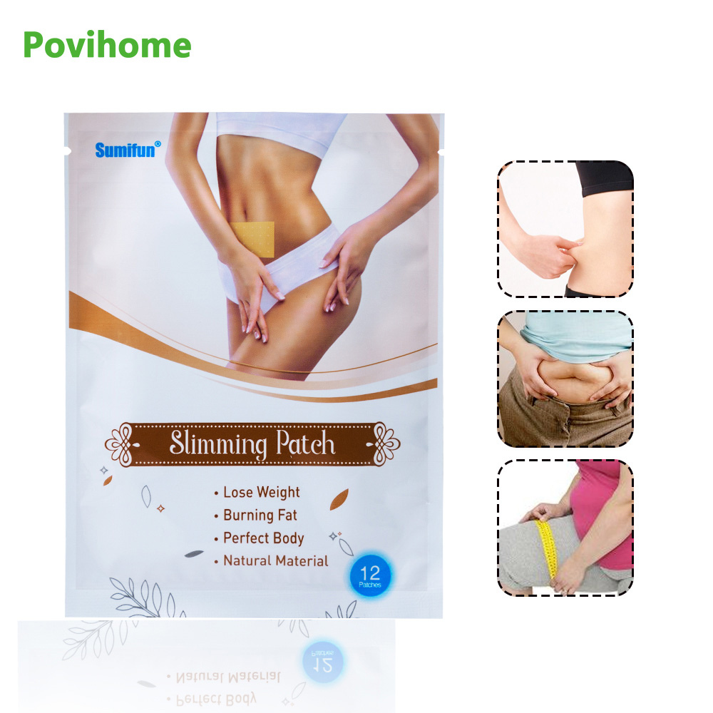 12Pcs Weight Lose Paste Navel Slim Patch Health Care Slimming Patch Products Fat Burning Detox Adhesive Cellulite Sticker K03501