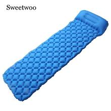 Camping Sleeping Pad Ultralight, Self Inflating Sleeping Pad Camping, Backpacking, Hiking With Pillow, Lightweight, Waterproof цены онлайн