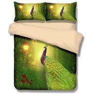 WARMTOUR лес павлин 3D Постельное белье Twin полный queen король постельное белье Популярные постельные принадлежности.