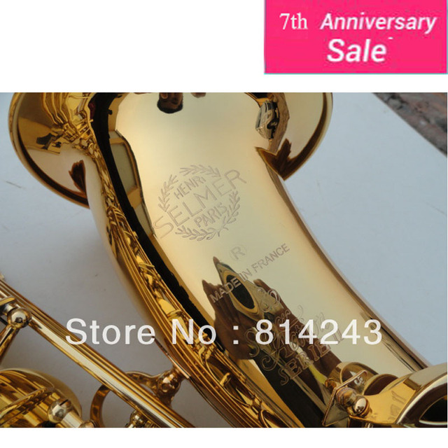 Высокое Качество Франция Selmer Bb Тенор-Саксофон Инструменты Супер Акция 80 Серии II Латунь Золото Поверхность Саксофон Мундштук