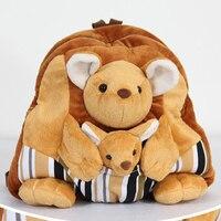 Kangaroo Stuffed Animal Backpacks For Kids Curious George Stuffed Animal Cute Kangaroo Kawaii Plush Toys Big