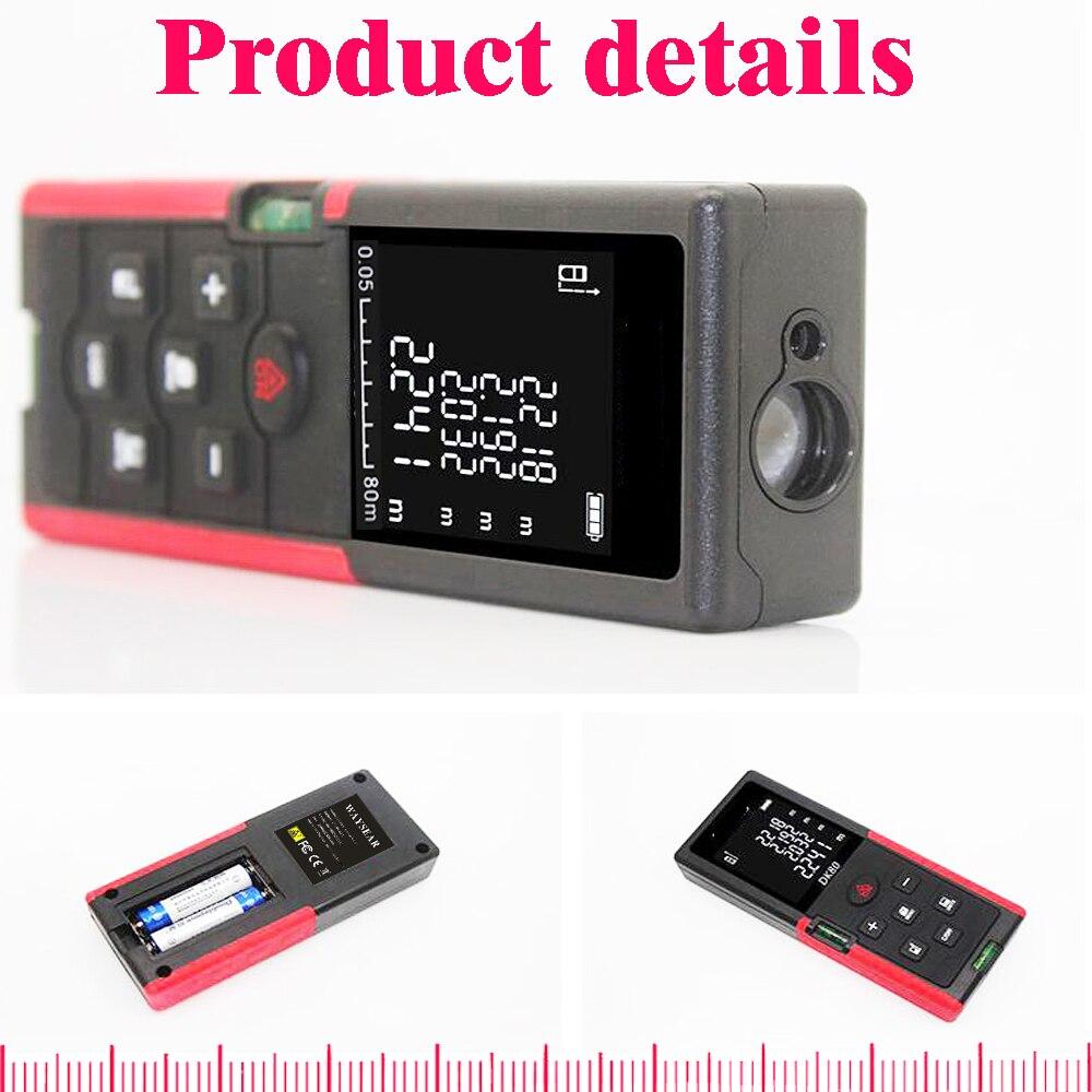 Image 2 - laser distance meter 40M 60M 80M 100M laser range finder Laser rangefinder Tape Measure ruler Roulette Electronic Tape-in Laser Rangefinders from Tools