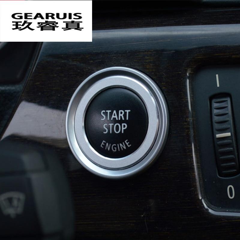 Auto styling Aluminiumlegierung Motor-start-stopp Trim Zündschlüssel Ring für BMW E90 E92 E93 3 Serie Innen Zubehör abdeckung