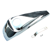 Motorcycle Chrome Fuel Tank Smooth Dash Fuel Console For Harley Touring Electra Road Street Glide