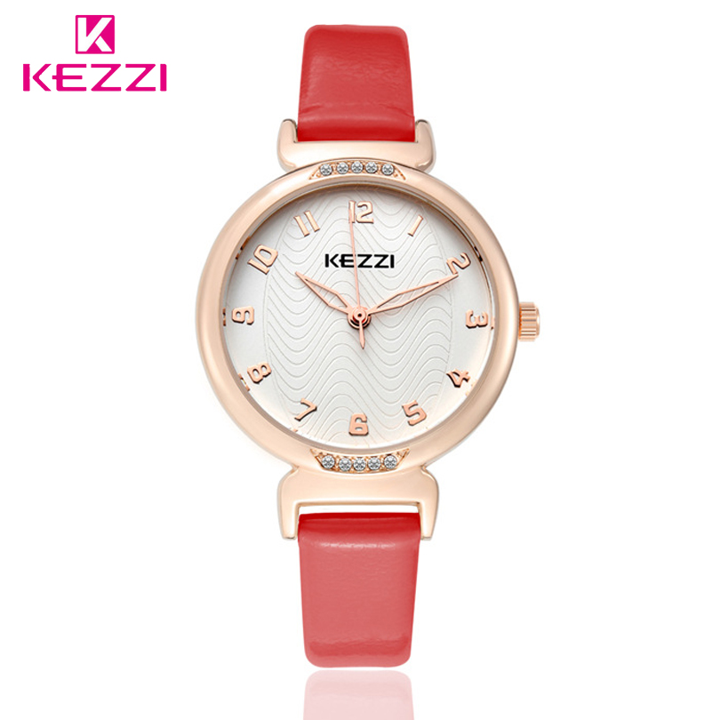 KEZZI Brand Women Quartz Watch Leather Luxury Popular Watches Female Casual Fashion Wristwatches Relogio Feminino vansvar brand fashion leather anchor watches casual women wristwatches luxury quartz watch relogio feminino gift clock