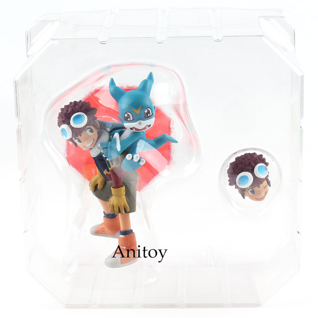 Digimon Adventure Zero Two Action Figure Digital Monster Figure Davis Motomiya & V-mon PVC Collectible Model Toy 10.5cm KT4834Action & Toy Figures