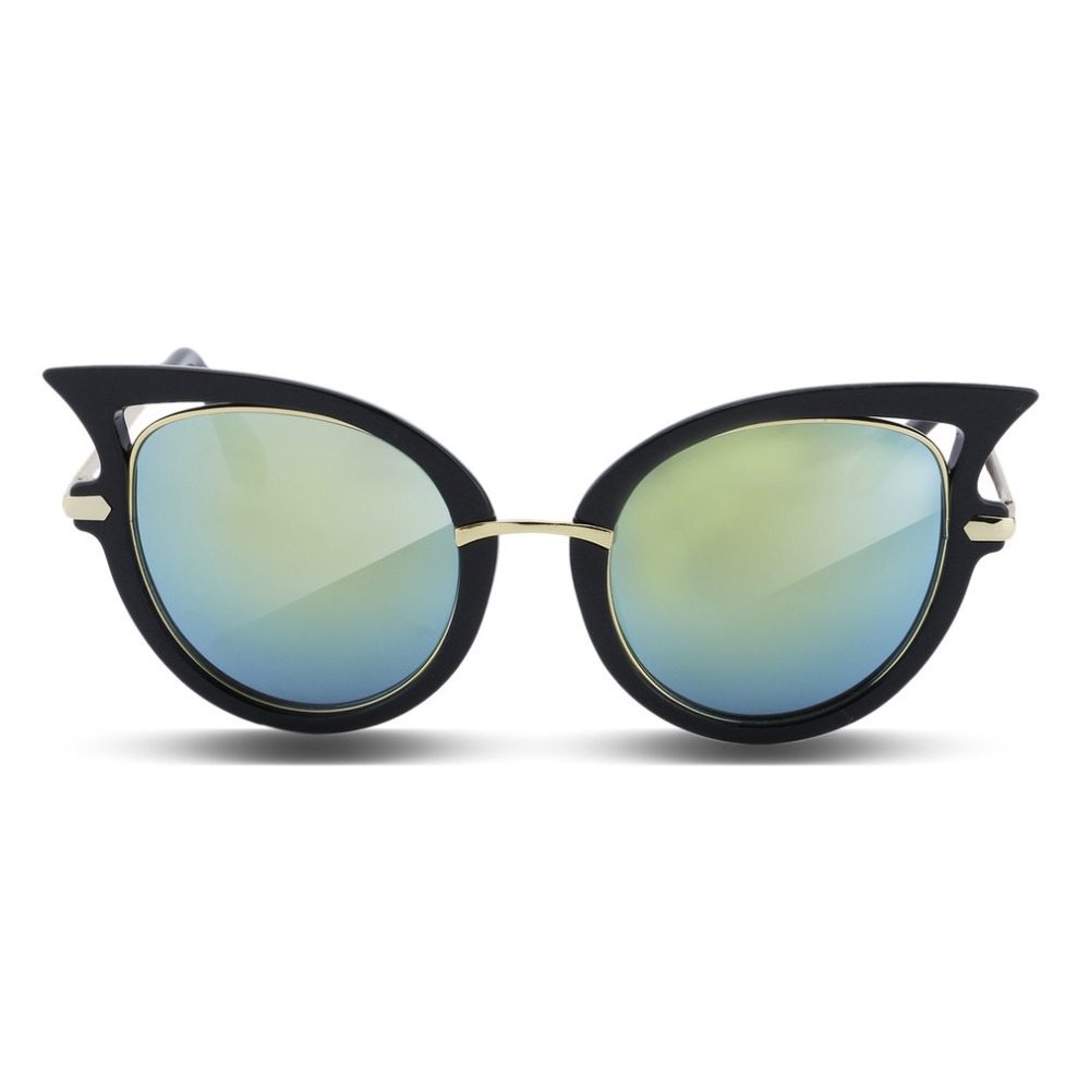 2018 New Fashion Brand Designer Cat Eye Women Sunglasses Female Gradient Points Sun Glasses Holiday Gift Oculos feminino de sol 1