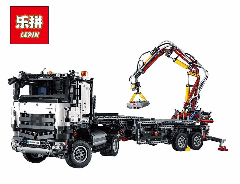 3245pcs NEW LEPIN 20005 technic series Arocs Model Building blocks Bricks Compatible with Funny Toy for Children 42043 2793pcs technic remote controlled arocs truck 20005 building kit 3d model blocks minifigures toys bricks compatible with lego