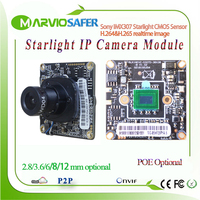 H.265/H.264 1080P FULL HD 2MP Starlight Colorful Night Vision CCTV IP Network Camera Module Sony IMX307 Board Onvif Audio Alarm