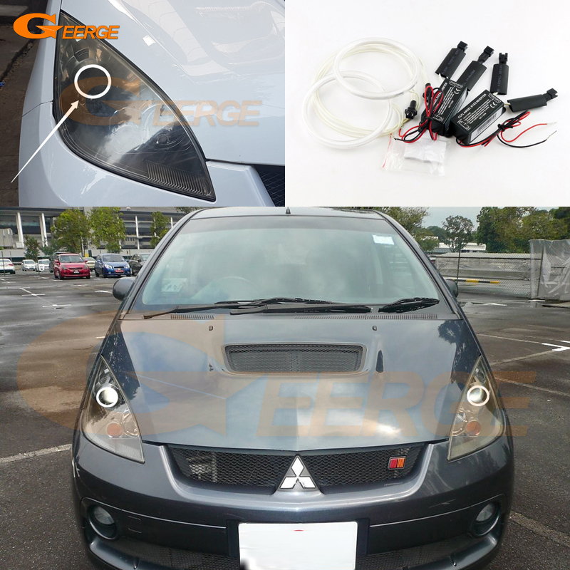 For mitsubishi colt version R 2006 2007 2008 Excellent angel eyes Ultra bright illumination CCFL Angel Eyes kit Halo Ring for honda odyssey 4th g rb3 rb4 chassis 2008 present excellent ultrabright headlight illumination ccfl angel eyes kit halo ring
