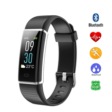 IPS color screen Smart Sport Bracelet Wristband Blood Pressure Heart Rate Monitor Pedometer Smart Watch men For Android iOS k88h smart watch 1 22 inch ips round screen wristband support sport heart rate monitor bluetooth smartwatch for ios android