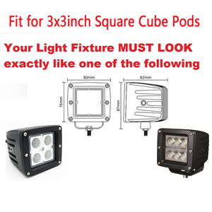 """Image 5 - 4PCS Protector Dust Proof Cover Amber Black Red Green Blue Clear for 3x3"""" inch 12W 18W 24W Square Cube Pods LED Work Light Bar"""