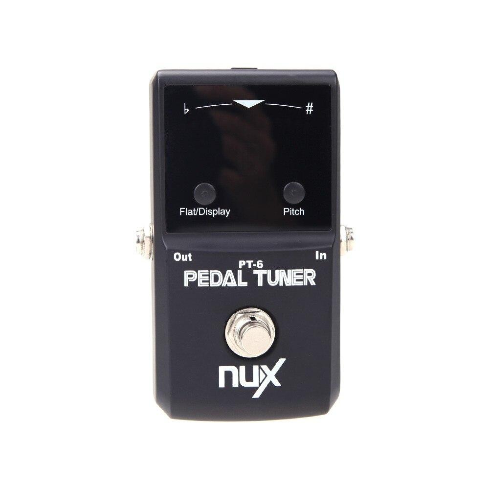 Nux pt-6 pedal tuner cromático con carcasa de metal accesorios del instrumento d