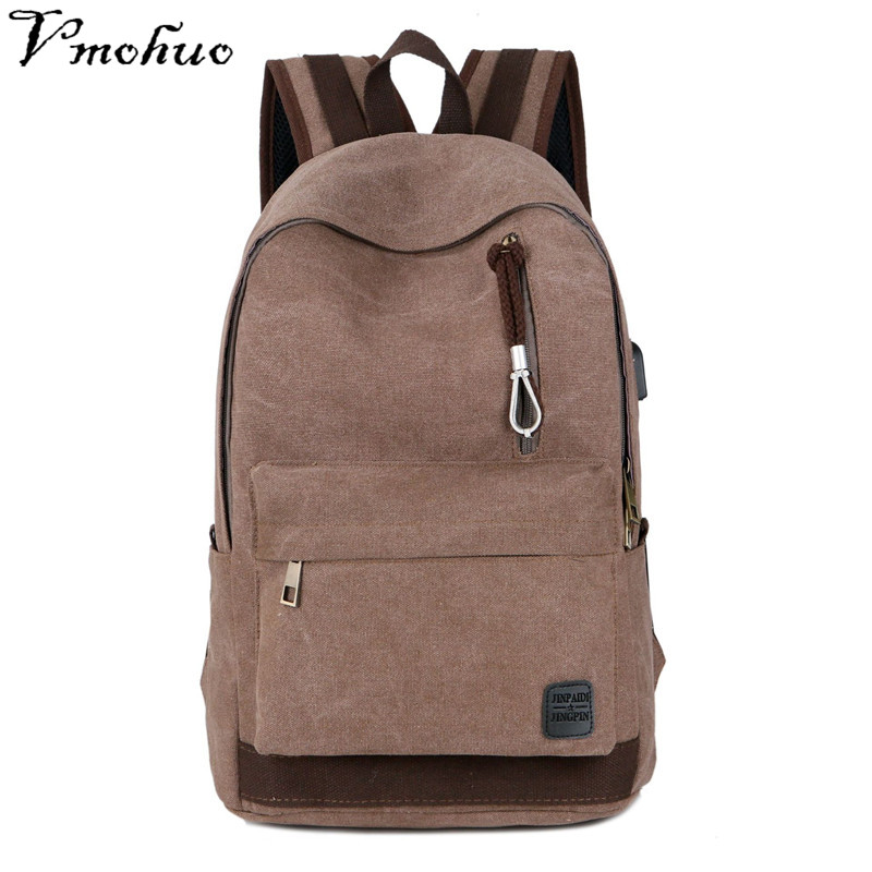 18 Inch Canvas Backpacks Large Size School Teenager Boys Girls Travel Laptop Backbag Mochila Rucksack