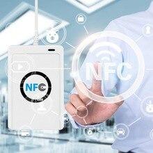 NFC ACR122U RFID считыватель смарт-карт Писатель Копир Дубликатор записываемый клон программное обеспечение S50 13,56 МГц ISO/IEC18092+ 5 шт M1 карты
