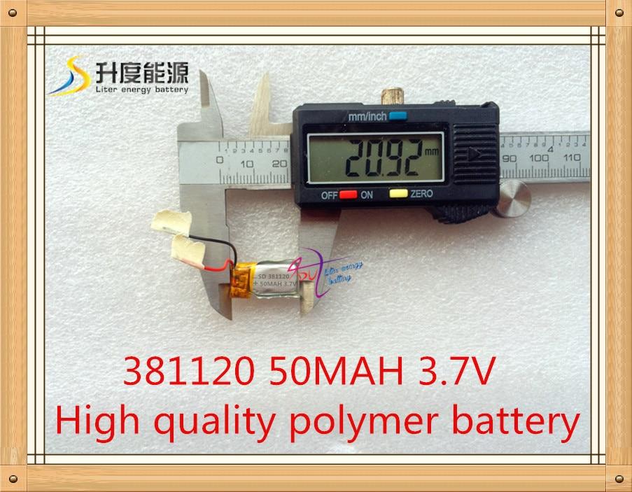 Li-PO Akku 381120 3,7 V 50 mAh Lithium-Polymer-Akku Gute Qualität OEM-Akku für Blueteeth