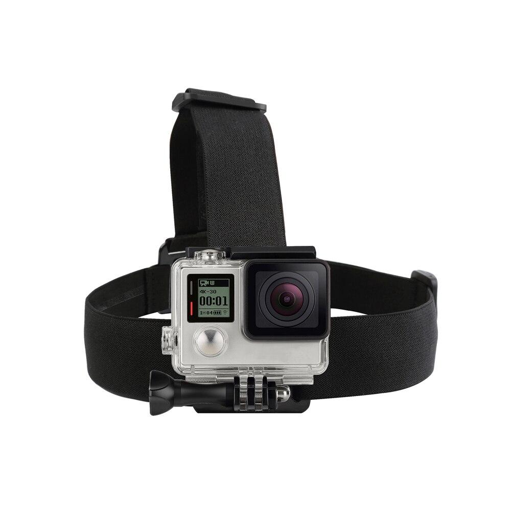 SHOOT Elastic Harness Head Strap Mount for GoPro Hero 5 4 3 Session Xiaomi Yi 4K