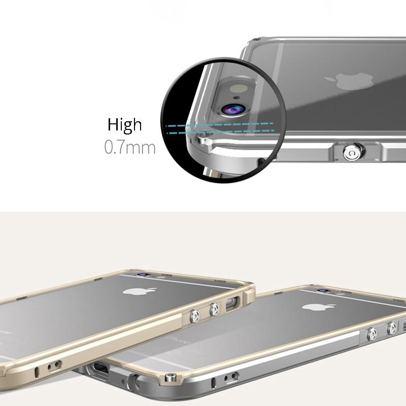 Cubierta de parachoques de metal para iPhone 6 Funda de aluminio para - Accesorios y repuestos para celulares - foto 2
