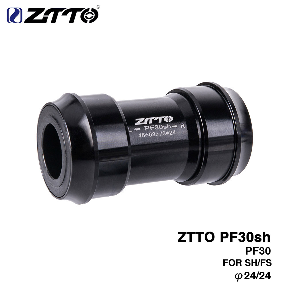 ZTTO PF30sh PF30 24 Adapter Bicycle Press Fit Bottom Brackets For MTB Road Mountain Bike Parts For PF30 68/73mm 46mm Frame Shell