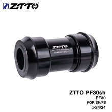 ZTTO PF30sh PF30 24 Adapter bicycle Press Fit Bottom Brackets for MTB Road Mountain bike parts for PF30 68/73mm 46mm Frame Shell(China)