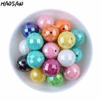Fashion 20MM 100Pcs/Lot AB Shiny Disco Mix Color Solid Acrylic Chunky Bubblegum Bead For DIY Handmade Accessories KQWB-517982