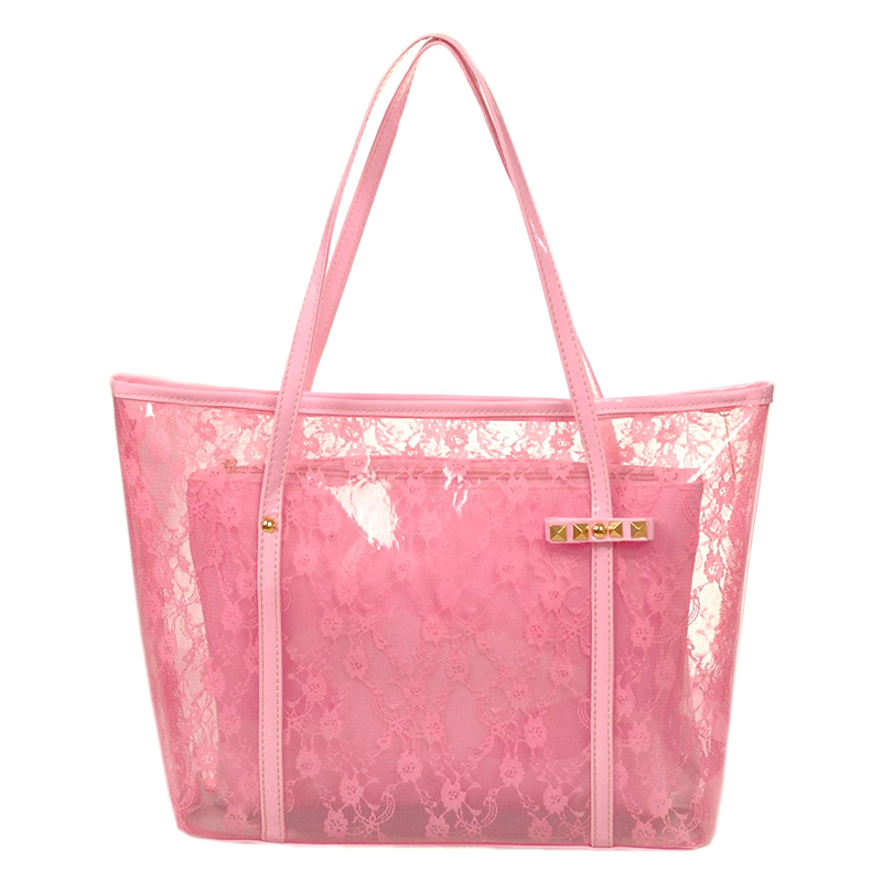New Transparent Jelly Lace Bag For Ladies, Single Shoulder Bag For Ladies, Fashionable Handbag For Ladies, Plastic Mother Bag Fo
