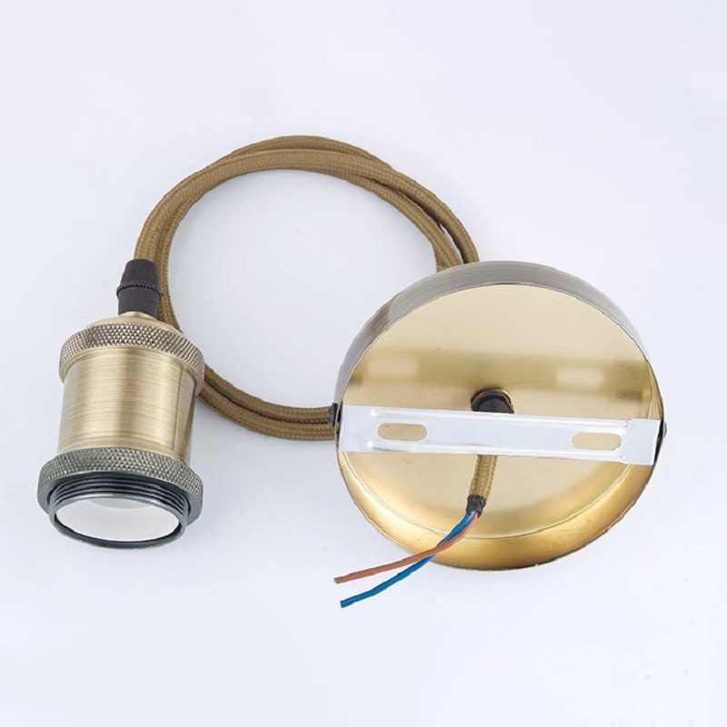 tradition Retro lamp chandelier lamp holder E27 base Bronze Edison lighting accessories ceramic inner lighting Hemp rope