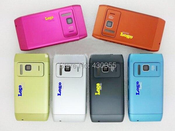 Black/Silver/Orange/Синий Новые Полные Полный Крышку Корпуса Чехол + Кнопки Для Nokia N8, бесплатная Доставка