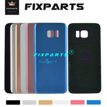 hot deal buy new for samsung galaxy s7 edge back battery cover g935f door rear glass housing case 5.5