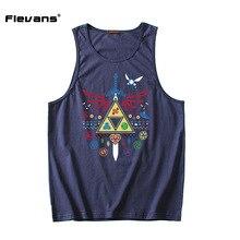 Flevans The Legend of Zelda Print Mens Bodybuilding Tank Tops Men Summer Cotton Vest O-Neck Tank Top Sleeveless Shirts