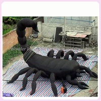 Horrible Crawl Black Giant Inflatable Scorpion For Halloween Decoration Sale