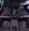 De calidad superior 3D alfombra del piso del coche para Audi A6L estera del pie del cojín del pie del coche 4 colores de la mano izquierda envío gota conductor