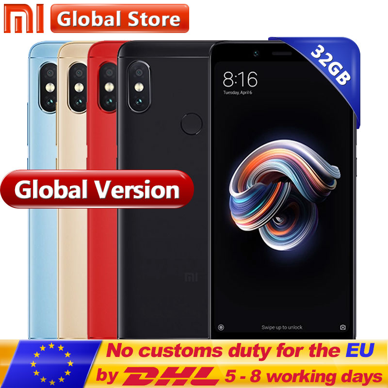 "Original Global Version Xiaomi Redmi Note 5 3GB 32GB Mobile Phone Snapdragon S636 Octa Core 5.99"" 4000mAh 12.0MP+5.0MP"