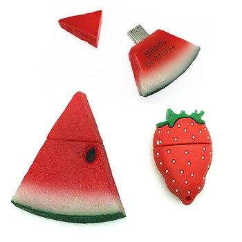 (over 10 PCS) Free LOGO customized cute pendrive cartoon strawberry usb flash drive drives 8GB 16GB 32GB memory stick pen driver