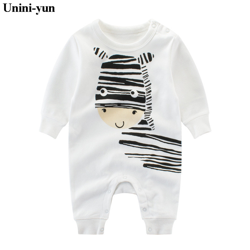 2017 Spring autumn soft Cotton baby clothing CATERS child clothes zebra Print children apparel cute winter kids romper 3M6M12M18 2016 new winter spring autumn girls kids boys bunnies patch cotton sweater comfortable cute baby clothes children clothing
