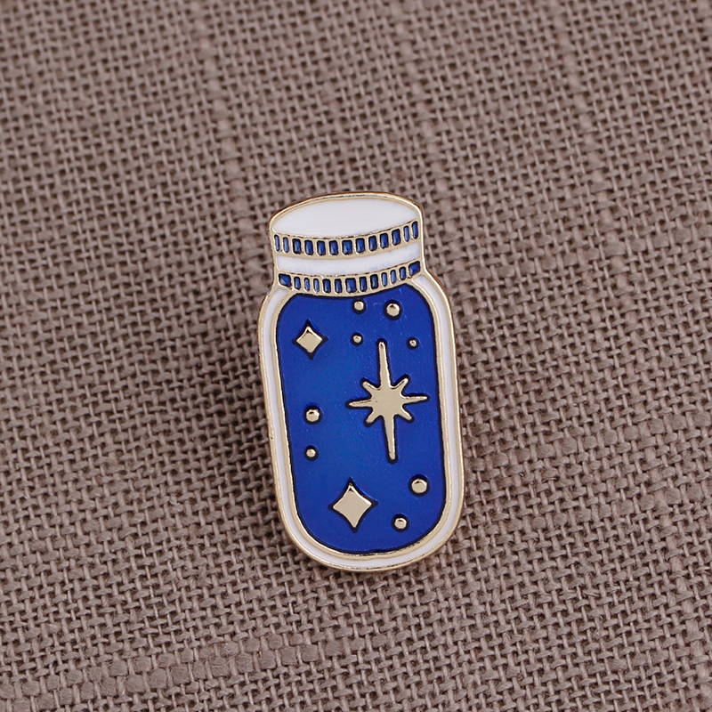 1 Pcs Cartoon Bicycle Wish Bottle Metal Brooch Button Pins Denim Jacket Pin Jewelry Decoration Badge For Clothes Lapel Pins Delicacies Loved By All Apparel Sewing & Fabric