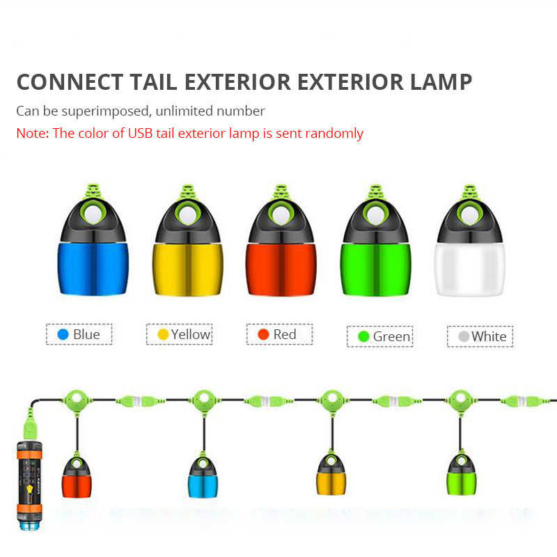 Купить с кэшбэком LED Camping Light 7800mAH Mosquito Tent Lamp USB Rechargeable Waterproof Multi-functional Lantern Flashlight Hanging Magnetic