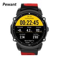 Pewant IP68 Смарт часы Bluetooth 4,0 gps Smartwatch Для мужчин Для женщин активного отдыха на открытом воздухе, часы трекер монитор сердечного ритма компас