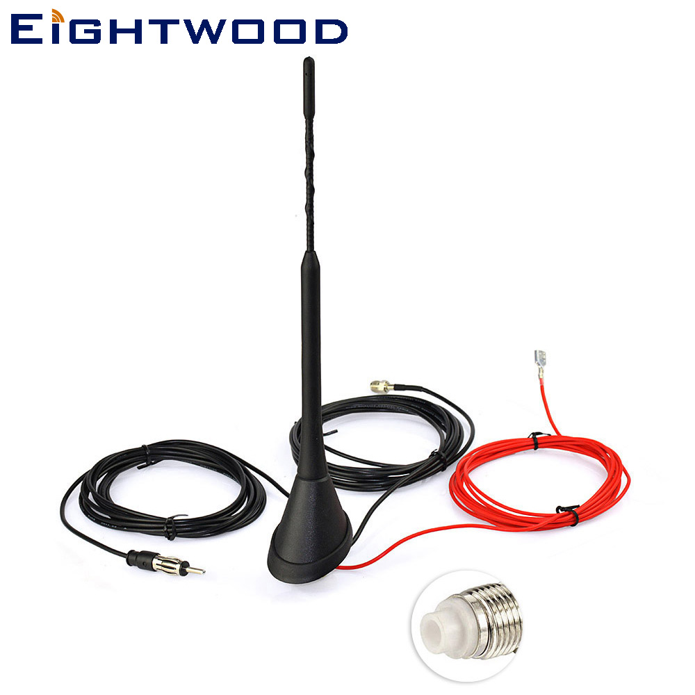 Eightwood DAB antenna for digital Car radio DAB + and analogue AM/FM radio frequency, FME clearaudio professional analogue toolkit