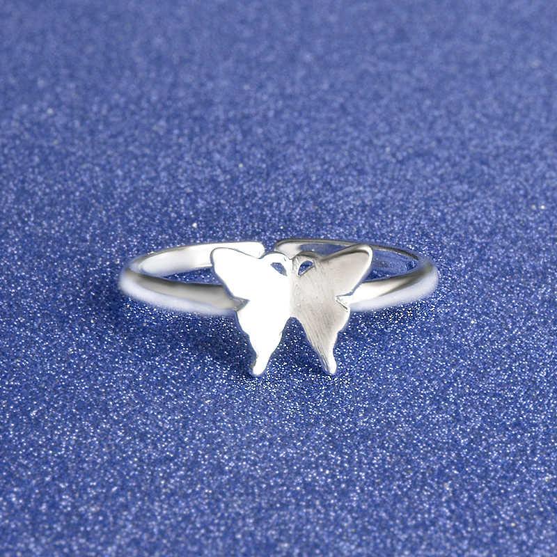 แฟชั่น Elegence ผีเสื้อ Fantastic แหวนอุปกรณ์เสริม 925 เงินสเตอร์ลิงสำหรับผู้หญิงจัดงานแต่งงานจัดส่งฟรี