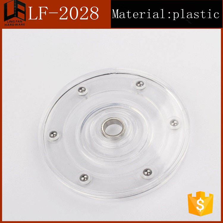 100mm Furniture Hardware Swivel Base 4 Inch Plastic Lazy Susan Turntable
