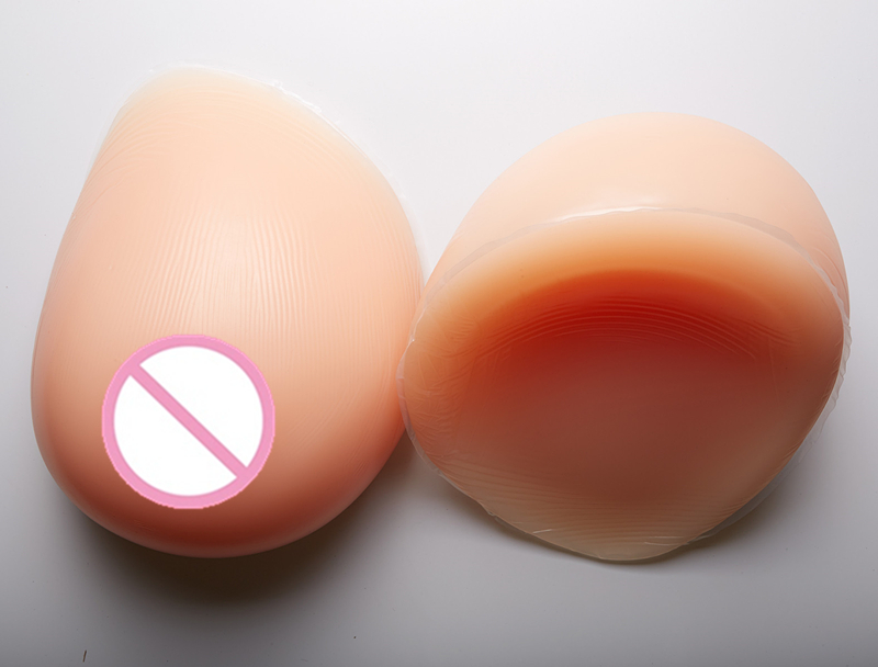 Adhesive Fake Breast 2800g/pair Full Breast Enhancers Silicone Realistic Breast Forms Left Right Crossdresser Boobs